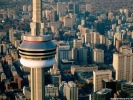 CN Tower from the air Toronto, Canada wallpaper